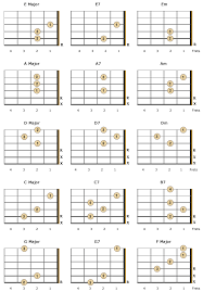 Left Handed Guitarist Guitar Chords For Beginners
