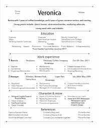 Entrepreneur Resume Samples Fresh Resume Sample Barista Position