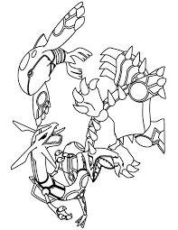 Pokemon Paradijs Kleurplaat Rayquaza Kyogre En Groudon 4931 Battling