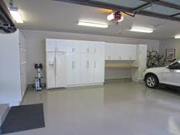 Large Garage Cabinets Large Garage Design Ideas With White Tile Floors Also Charming