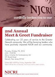 Meet And Greet Invitations Samples Njcri 2nd Annual Meet Greet Invitation