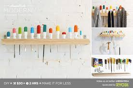 Coat Rack Shelf Diy HomeMade Modern EP100 Screwdriver Coat Rack 71