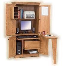 Ideas Of Unfinished Computer Armoire With Folding Desk