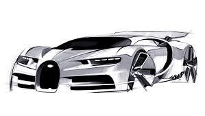 Small Picture 02 Bugatti Chiron Design Sketch 04jpg 1600906 Car sketch