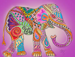 colorful elephant drawings. Perfect Colorful Colorful Elephant  Pam Jessiman Intended Drawings N
