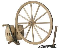 36 decorative wood wagon and cannon wheel