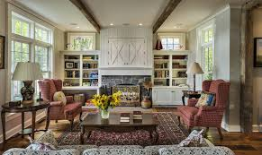 fireplace and side cabinets living room farmhouse with dark wood coffee table black coffee tables