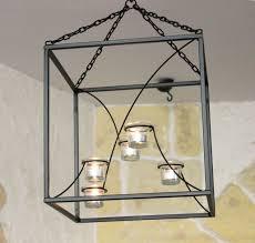 Details Zu Dandibo Hängeleuchter Kubus Kronleuchter Teelichthalter 35 Cm Aus Metall Würfel