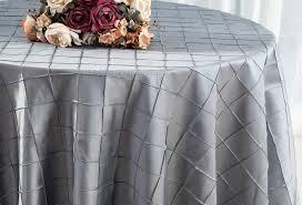 90 round pintuck taffeta tablecloth silver 60640 1pc pk
