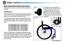 Standard Wheelchair Size Chart Smartdrive Mx2 Axle Clamp Instructions Revision C Permobil
