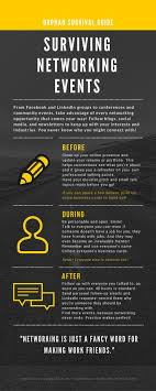 best ideas about networking events resume job orphan survival guide surviving networking events tips infographic