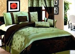 green and brown bedding sets sage set comforter luxury