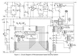 microprocessor based home security system electronics project circuit diagram of microprocessor based security system