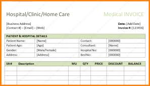 Medical Invoice Pdf Hospital Invoice Format Free Medical Invoice Template Excel Pdf Word