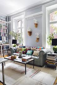 Bohemian Bachelor Pad in New York City. Colourful Living RoomGrey ...