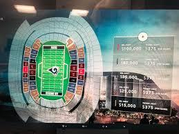 La Rams Seating Chart Rams Ssl Map With Pricing Losangelesrams