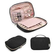bagsmart travel jewelry storage cases jewelry organizer bag for necklace earrings rings bracelet