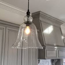 Clear Glass Pendant Lights For Kitchen Island Chandeliers Awesome Large Glass Bell Hanging Pendant Lights For