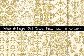 Gold Damask Background Gold Damask Patterns