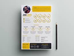 Free Infographic Psd Resume Template By Andy Khan On Dribbble