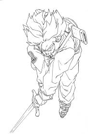 Monumental Vegeta Super Saiyan Coloring Pages Dragon Ball Z Trunks