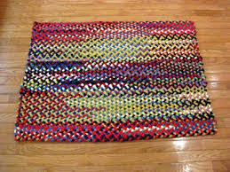 32 x 42 rectangle wool braided rug