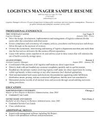 Logistics Management Resume Sample Logistics Manager Resume Dew Drops