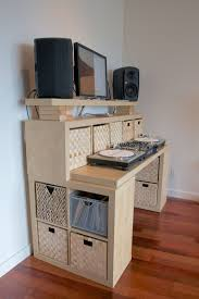 ikea office hacks. Incredible Ikea Standing Desk Hack With Wood Inspired By H-shaped And Completed Filling Cabinets Drawers Office Hacks