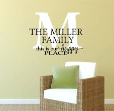Small Picture Family Name Decals by Decor Designs Decals This Is Our Happy Place