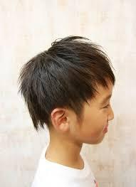 2ブロックキッズアシメショート 田中トシオヘアサロン髪ing