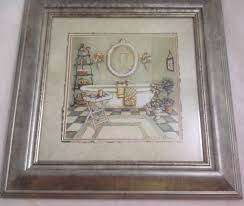 Framed Art Bathroom Details About C Winterle Olson Bathroom Art Framed Matted