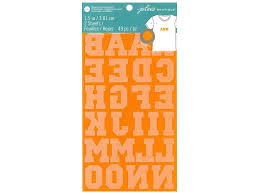 Create Your Own Iron On Design Ek Jolees Boutique Iron On Transfer 1 5 In Alpha Flock Orange 1