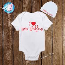 Designer Newborn Baby Gifts I Love Toe Tickles Onesies Designer Onesies Newborn Cute