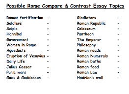 ideas for compare and contrast essay topics