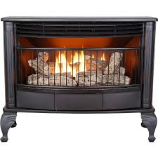 emberglow 25 000 btu vent free dual fuel gas stove with thermostat