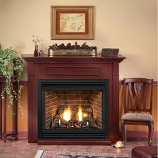 tahoe premium 36 direct vent gas fireplace remote ready with hearth and wall surround