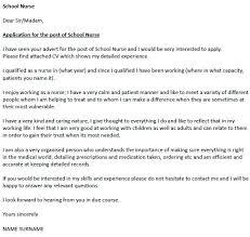 Rural School Nurse Cover Letter Ocfoodreview Com