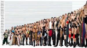 Wrestling Moves Chart Wwe Wrestlers Height Comparison Chart Shortest Vs Tallest