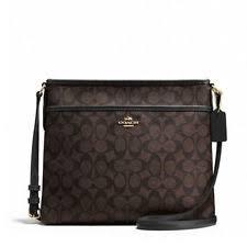Coach Outline Signature File Bag Handbag F58297 Imaa8