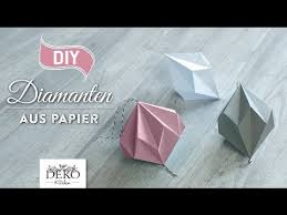 Diy Hübsche Papier Diamanten Selber Machen How To Deko