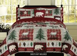 country cabin quilt set rustic western