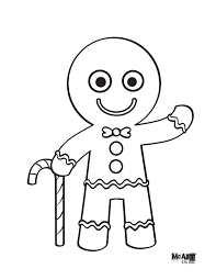 Small Picture Gingerbread Man Coloring Page Coloring Pages Pinterest