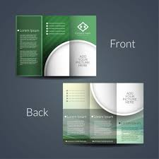 two sided flyer template free double sided brochure vector free download