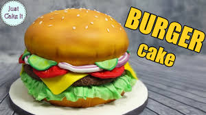 Burger Cake Design How To Make A Hamburger Cake Easy Way Its All Cake Inside