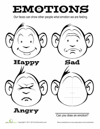 Small Picture Emotions Coloring Page Worksheets Therapy and Social work