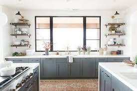 Modern kitchen cabinet Contemporary Grayishbluekitchencabinetsmodernwindow Highlandsarcorg Beautiful Blue Kitchen Cabinet Ideas