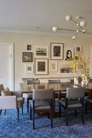 frame collage set dining room eclectic with mixed vases wall paper