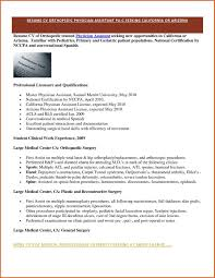Physician Assistant Resume Examples Examples Of Resumes