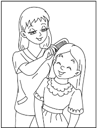 Makeup Daughter At Mother's Day Coloring Pages For Kids #dur ...