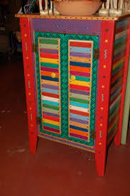 painted mexican furniturefolk art painted furniture  Beautiful cabinet in Basura Stick